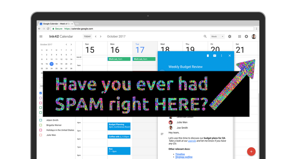 How to stop Google Calendar spam